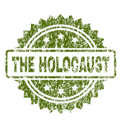 Grunge textured the holocaust stamp seal vector