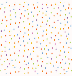 Hand painted tiny rainbow dots confetti seamless vector
