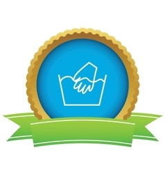 Hand wash certificate icon vector