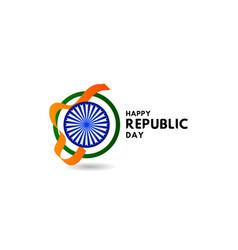 Happy republic day template design vector