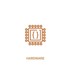 Hardware concept 2 colored icon simple line vector