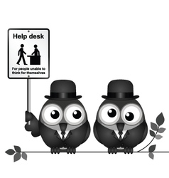 Help desk sign vector