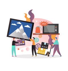 Home appliances sale concept for web banner vector