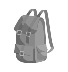 Hunting backpack icon black monochrome style vector image
