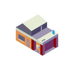 Isometric house on white background modern house vector