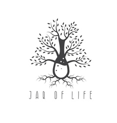 Jar life design concept with tree vector