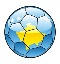 Kosovo flag on soccer ball vector