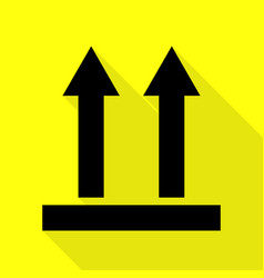 logistic sign of arrows black icon with flat vector image