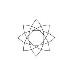 Lotus flower mandala seed life sacred geometry vector