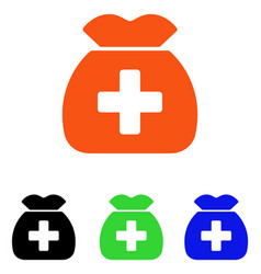 Medical capital fund flat icon vector
