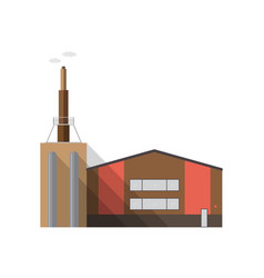 modern factory building with pipe emitting smoke vector image
