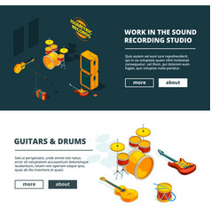 music concepts banners template vector image