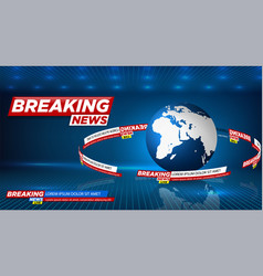 news background breaking news vector image