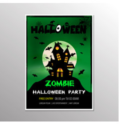 On a halloween zombie party theme on green vector