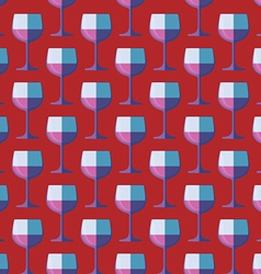 Pop art red wine glass seamless pattern vector