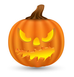 Pumpkin monster face vector
