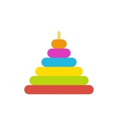 Pyramid toy flat icon vector