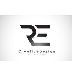 Re r e letter logo design creative icon modern vector