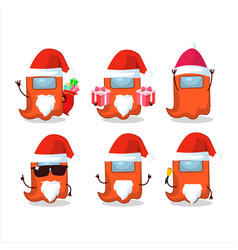 Santa claus emoticons with ghost among us orange vector