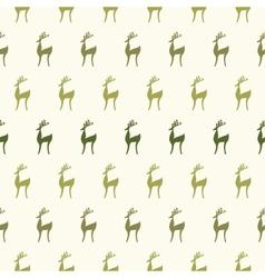 Seamless cartoon deer background vector image