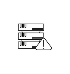 server warning icon vector image