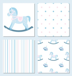 Set of design elements of baby theme-seamless vector