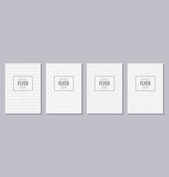 set of flyer posters banners placards brochure vector image