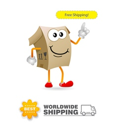 Shipping delivery character vector image