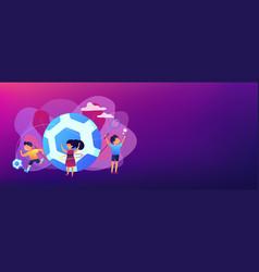 sport summer camp concept banner header vector image