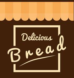 Square delicious bread background vector