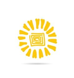 sun color design vector image