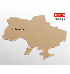 ukraine map ukrainian maps craft paper texture vector image