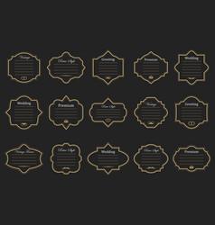 Vintage frames on background vector