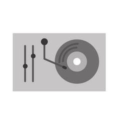 vinyl player console icon vector image
