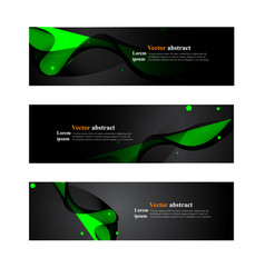 website header or banner web set abstract vector image