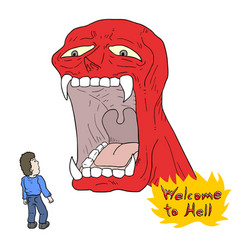 Welcome to hell message vector