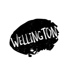 Wellington rubber stamp vector