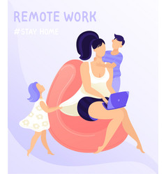 Work at home concept design features remote vector
