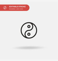 yin yang simple icon symbol vector image