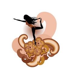 yoga artistic vector image