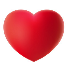 big red 3d heart on a white background realistic vector image