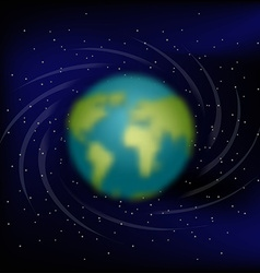 Earth in space Black space Star and planet Earth vector image