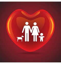 Family heart vector image vector image