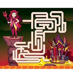 Halloween maze vector