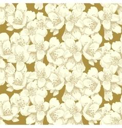 Jasmine seamless pattern vector image vector image