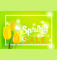 spring is coming with big sale spring flower vector image vector image