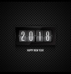 happy new year 2018 flip clock vector image vector image