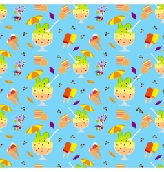 Ice cream and candies seamless pattern vector image vector image