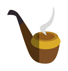 pipe wooden isolated icon vector image vector image