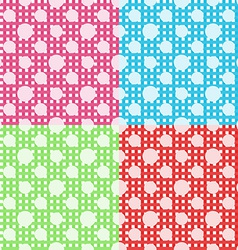 Set of four polka dot seamless patterns vector image vector image